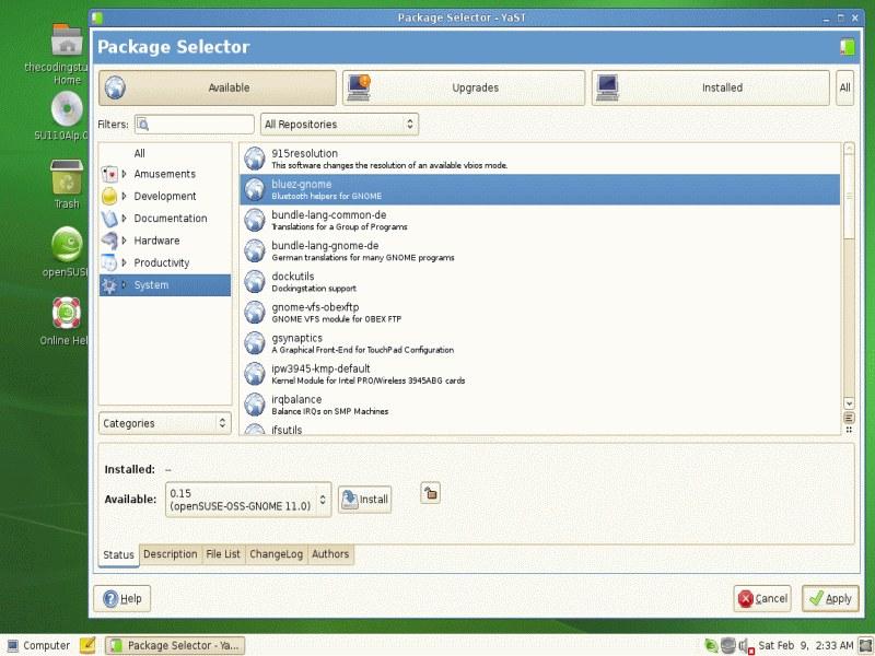 Package Selector