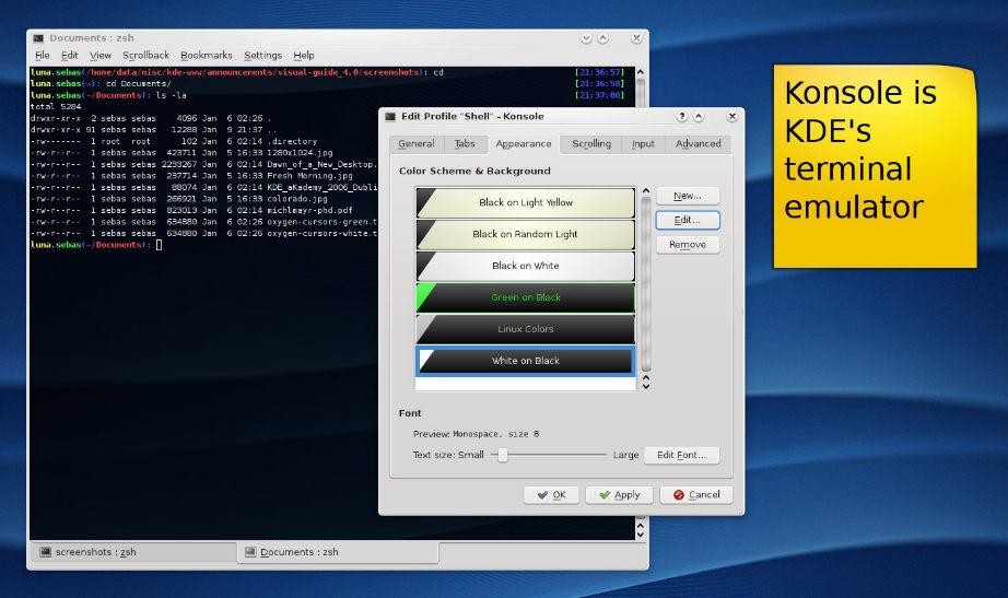 Консоль в KDE 4